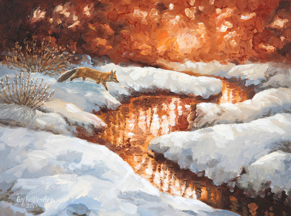 """Fresh Snow""  -  Red Fox  -  SOLD"