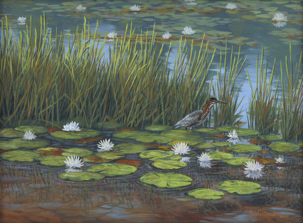 """Sapphire Lake Lily pads"" - Camp Merrie Woode  -  SOLD"