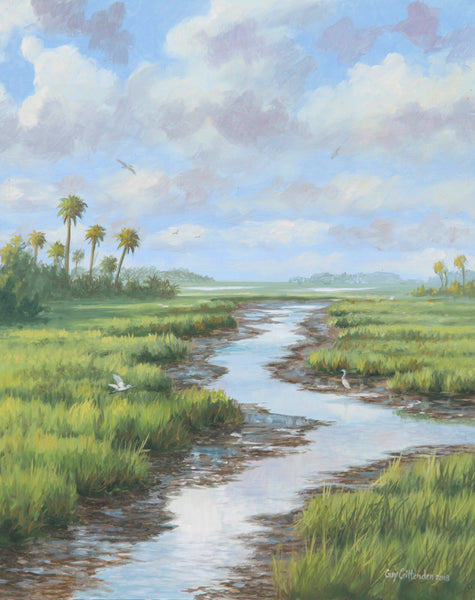 """Summer Days""  -  South Carolina Marsh  - SOLD"