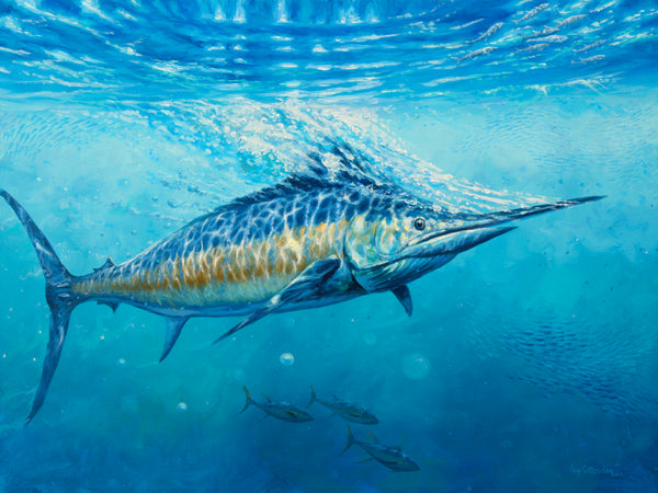 """Gulf Stream""  -  Blue Marlin  -  Original Painting  -  SOLD"