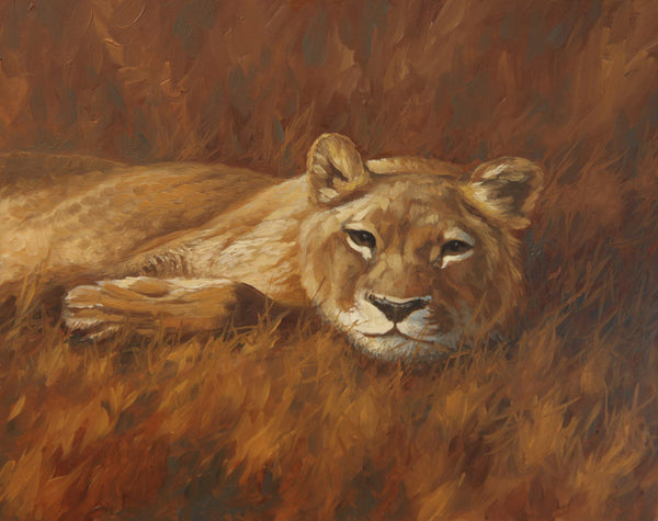 """Lazy Lion""  -  SOLD"