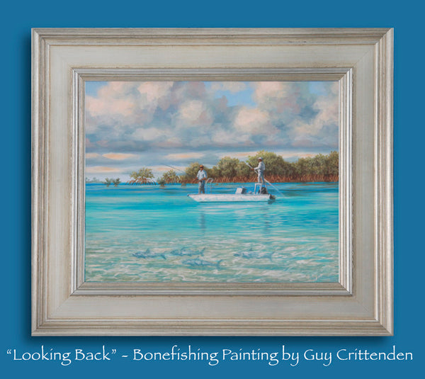 """Looking Back"" - Bonefishing in the Bahamas - SOLD"