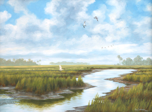 """Low Tide""  -  South Carolina Marsh"