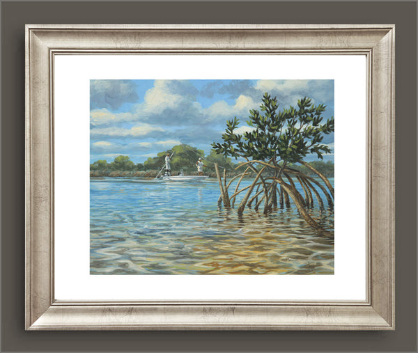 """Mangrove Alley"" - Bonefish Anglers - Original Painting SOLD"