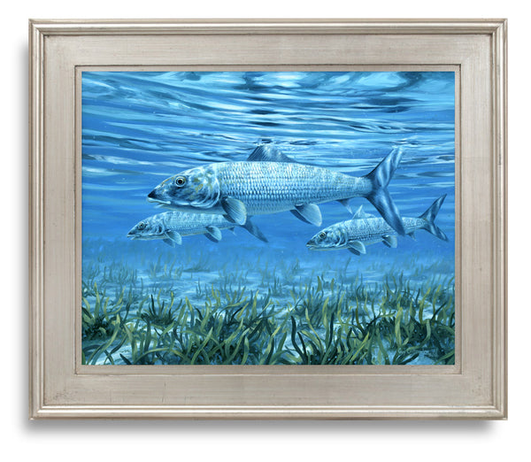 """Ride the Tide""  - Bonefish in the Shallows - Original Painting SOLD"