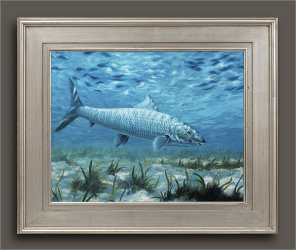 """The Silver Ghost"" - Bonefish on the flats  -  SOLD"