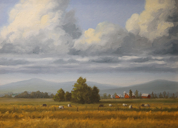 """Grazing"" - Virginia valley and Blue Ridge mountains"