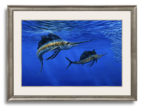 """Deep Blue"" -  Pacific Sailfish - Original Painting Sold"