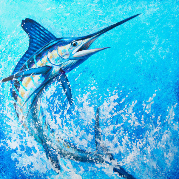 """White Marlin Wide Open""  -  Original Painting AVAILABLE"