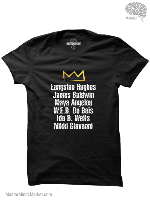 Famous Black Authors Tribute T-shirt