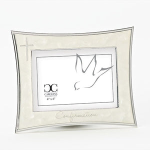 "5.5"" Ivory Confirmation Photo Frame"