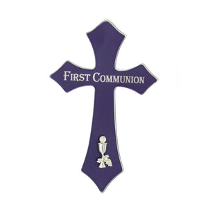 "6.75"" Blue Glass Cross"