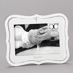 "8.25"" White Baptism Photo Frame"