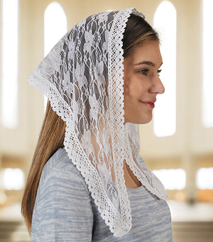 Chapel Veil - Short White
