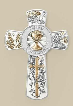 JS Communion Wall Cross 8""