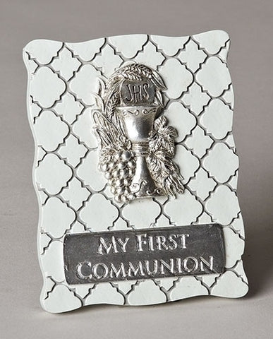 "4.5"" First Communion Desk Plaque"