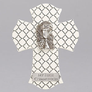 "8"" First Communion Wall Cross"