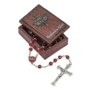 "2.75"" Distressed Confirmation Keepsake Box"