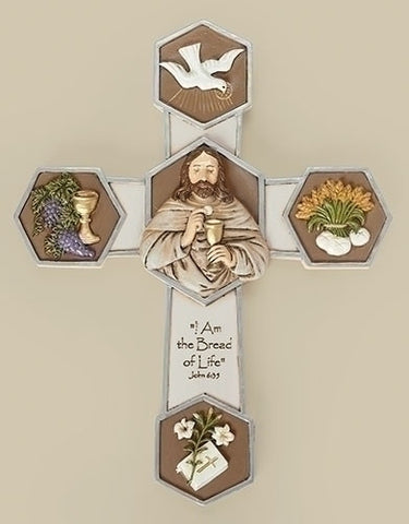 JS Bread of Life Wall Cross 8""