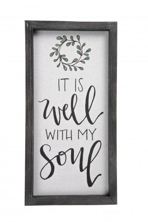 It Is Well Framed Linen Sign