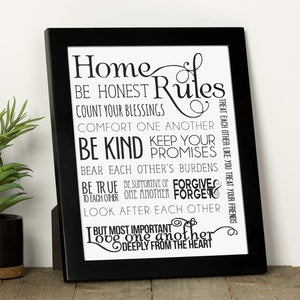 Home Rules Contemporary Print