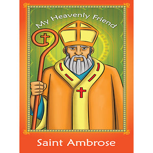 Prayer Card - Saint Ambrose (Pack of 25)
