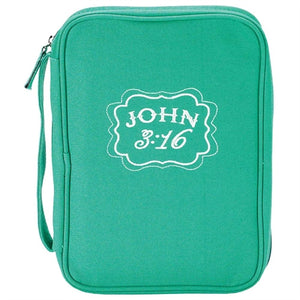 Bible Case - Canvas- John 3:16