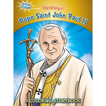 Colouring Book Pope Saint John Paul II