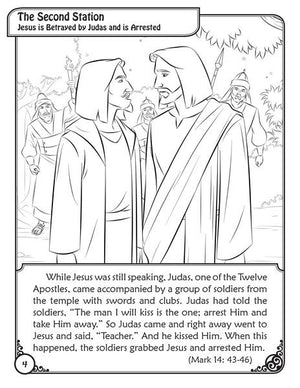 Colouring Book The Scriptural Stations of the Cross