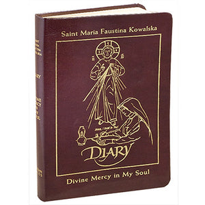 Diary of Saint Maria Faustina Kowalska (Burgundy Leather)