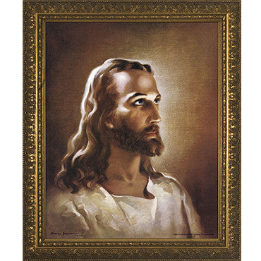 Head of Christ Gold Frame 11x14