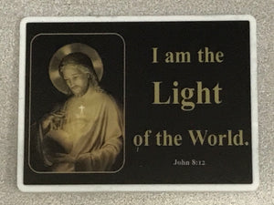 4x3 Table Plaque - I Am the Light of the World