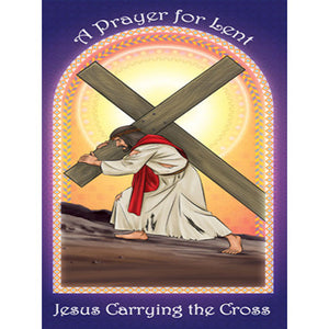 Prayer Card - Jesus Carrying the Cross (Pack of 25)