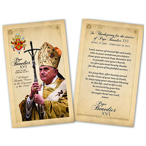 PC Commemorative Pope Benedict XVI Laminated