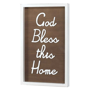 12 x 20 Bless This Home Wall Plaque