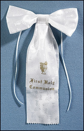 First Communion Arm Bow-Chalice Brocade