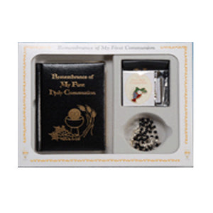 Remembrance  of My First Holy Communion Deluxe Gift Set Black
