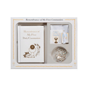Remembrance of My First Holy Communion Deluxe Gift Set White