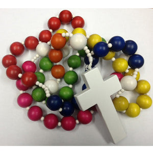 Multi-coloured Teaching Rosary