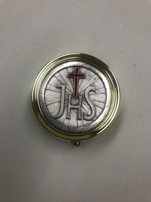 Pyx - JHS with Red Enamel Cross