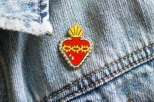 Sacred Heart of Jesus Enamel Pin