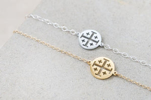 Jerusalem Cross Bracelet (14k gold-plated/filled)