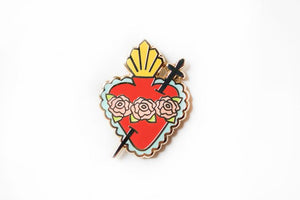 Immaculate Heart of Mary Enamel Pin