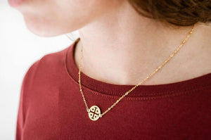 Jerusalem Cross Necklace 14k gold-plated/filled)