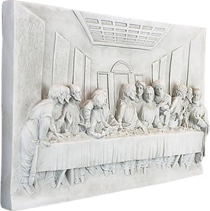 Antique Stone Last Supper Plaque