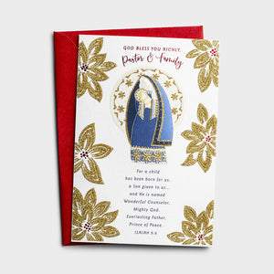 Christmas Card - Pastor & Family - J1192