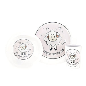 Jesus Loves Me 3 piece Dish Set