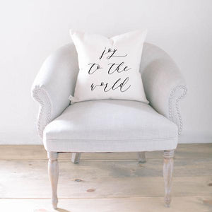 Joy To The World Christmas Pillow