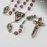 The Warrior's Rosary with Female Saints - Bohemian Amethyst