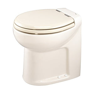 Thetford 38021 Tecma Silence 1 Mode 12V RV Toilet with Electric Solenoid-High, Bone